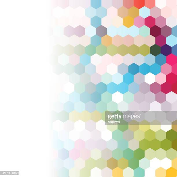 colorful seamless hexagon pattern background