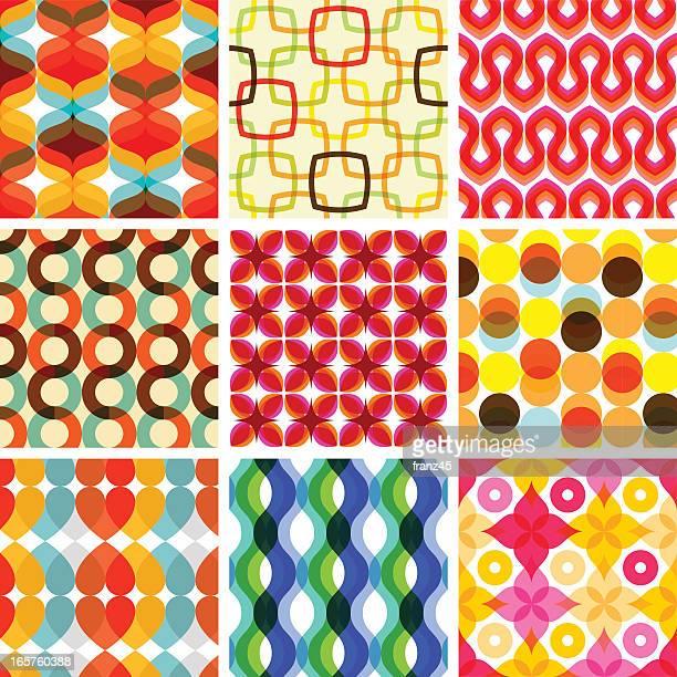 Colorful seamless retro geometric pattern - holiday