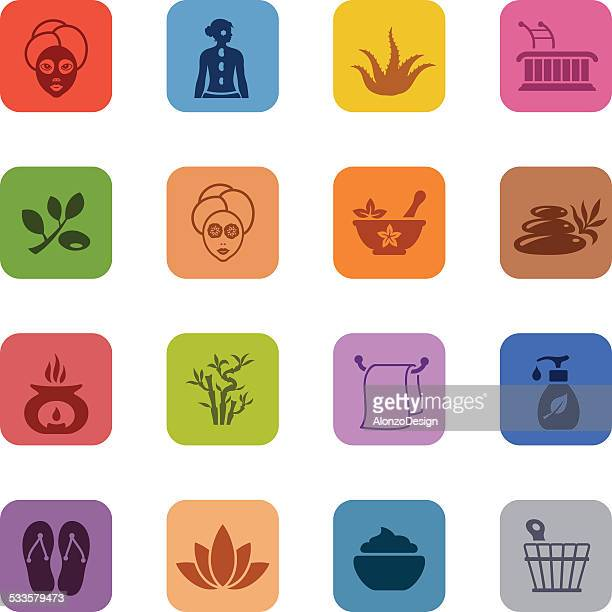 Colorful SPA Icon set