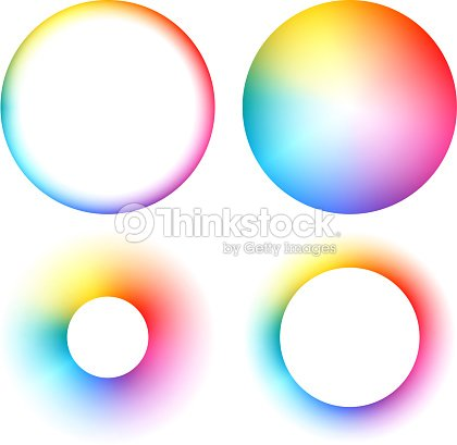 Colorful Spectrum Round Frames Set Vector Art | Thinkstock