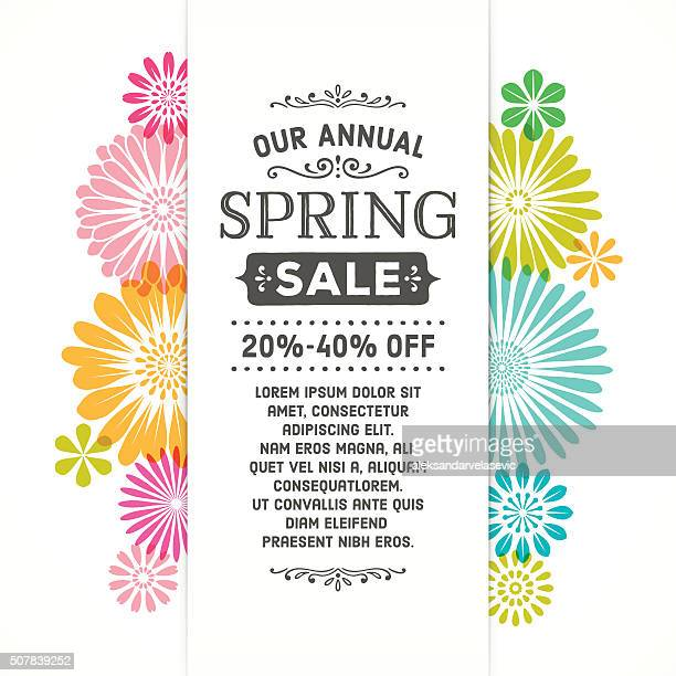 Colorful Spring Graphic Flower Banner