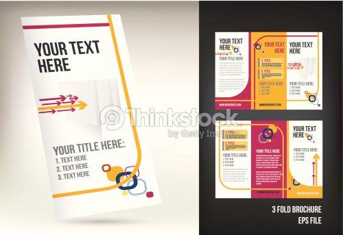 colorful three fold brochure template vector art thinkstock