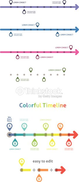 colorful timeline infographic template easy to edit vector art