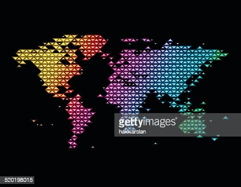 Colorful world map illustration with triangle shapes vector art colorful world map illustration with triangle shapes vector art gumiabroncs Image collections