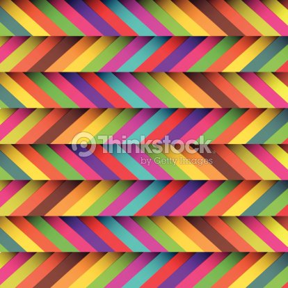 Colorful Zigzag Patterned Wallpaper Background Vector Art