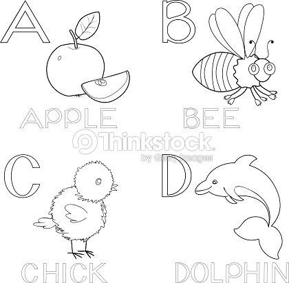 Färben Alphabet Vektorgrafik | Thinkstock