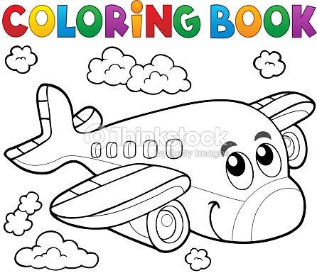 Libro Para Colorear Avión Tema 2 Arte vectorial | Thinkstock
