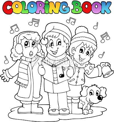 Libro Para Colorear Carol De Música Temática 1 Arte vectorial ...