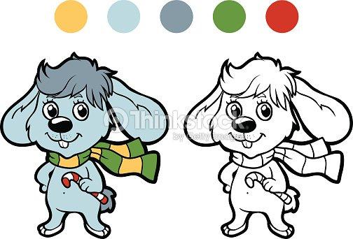 Libro Para Colorear Invierno Navidad Conejos Juegos Para Niños Arte ...