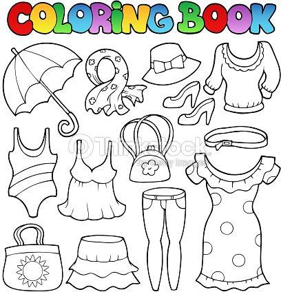 Libro Para Colorear Ropa De Estilo 2 Arte vectorial | Thinkstock