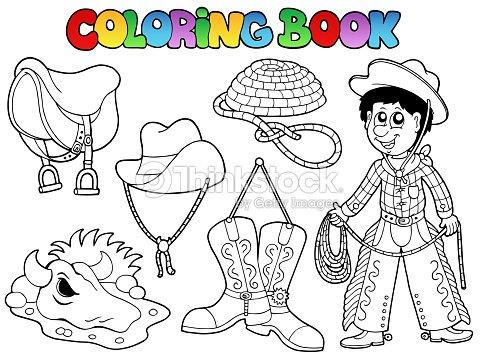 Libro Para Colorear País Collection Arte vectorial | Thinkstock
