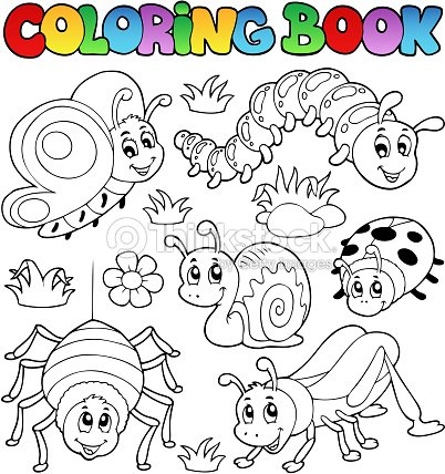 Coloring Book Cute Bugs 1 Vector Art