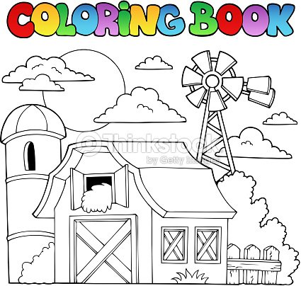 Libro Para Colorear Farm Tema 1 Arte vectorial   Thinkstock
