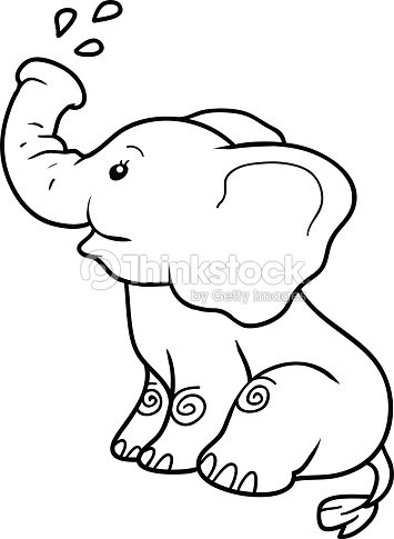 coloring book for children elephant vector art - Child Drawing Book
