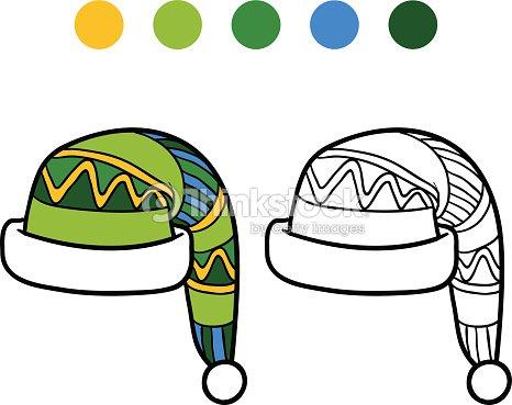 f96c48a4c1726 Libro Para Colorear Con Los Niños Tejido Gorro De Invierno arte ...