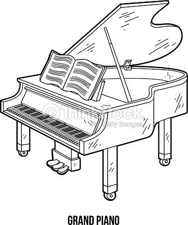 Livre de coloriage pour les enfants les instruments de - Coloriage piano ...