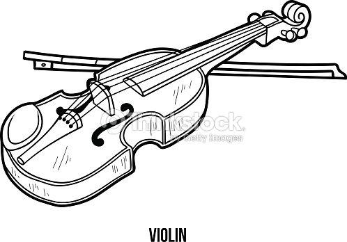 coloring book for children musical instruments violin