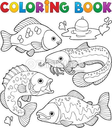 Libro Para Colorear Fishes De Agua Dulce 1 Arte vectorial | Thinkstock