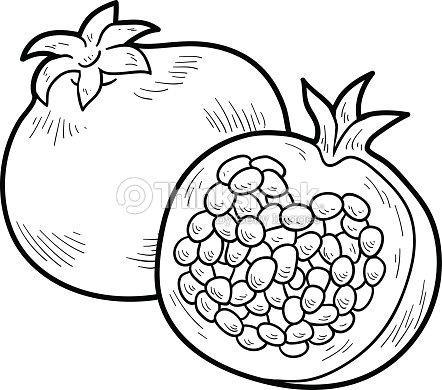 Livre De Coloriage Fruits Et Légumes Grenade Clipart
