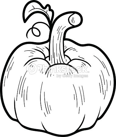Coloring Book Fruits And Vegetables Pumpkin Vector Art