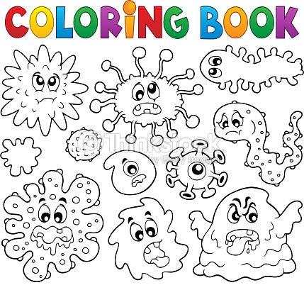 Libro Para Colorear Gérmenes Tema 1 Arte vectorial | Thinkstock