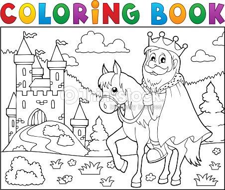 Libro Para Colorear El Tema De Caballos Con Cama Rey 2 Arte ...