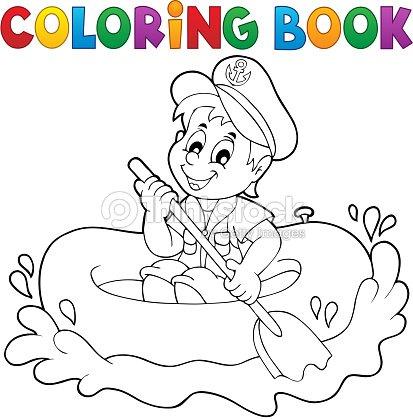Libro Para Colorear Poco Marinero Tema 1 Arte vectorial | Thinkstock