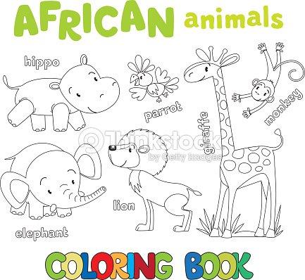 Libro Para Colorear Con Los Animales Africano Divertido Arte ...