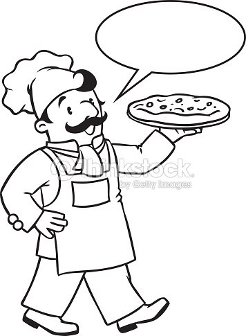 Para Colorear Libro De La Risa Panadero O Chef Con Pizza Arte ...