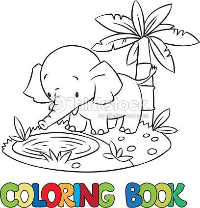 Libro Para Colorear De Poco Funny Elephant O Almohadas Arte ...