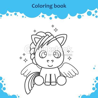 Página De Libro Para Colorear Para Niños El Lindo De Color De ...