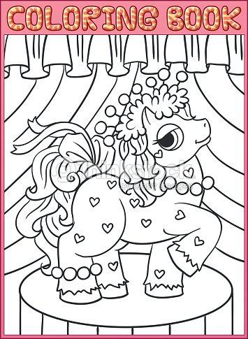 Libro Para Colorear Páginas Little Pony Hermoso Arte vectorial ...