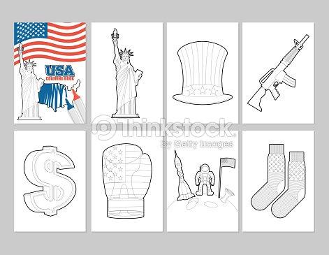 Estados Unidos Para Colorear Libro Patriótica Estadounidense ...