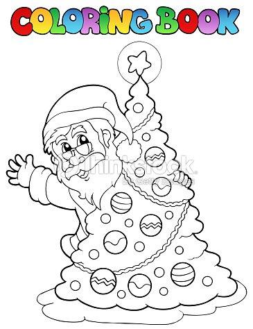 Libro Para Colorear Santa Claus Tema 5 Arte vectorial | Thinkstock