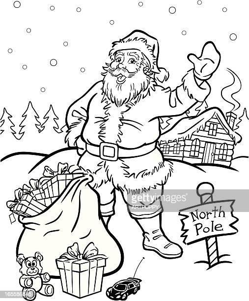 Malbuch Santa Claus