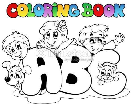 Libro Para Colorear Escuela Abc Cartas Arte vectorial | Thinkstock
