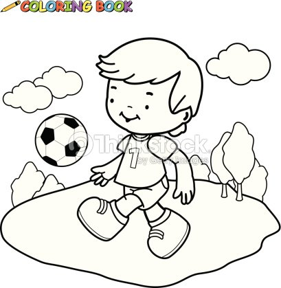 Libro Para Colorear Fútbol De Niños Arte vectorial | Thinkstock