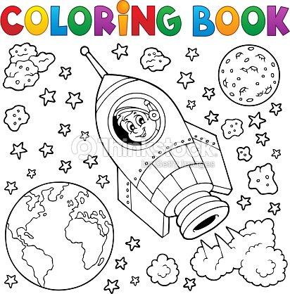 Libro Para Colorear Espacio Tema 1 Arte vectorial   Thinkstock