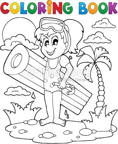 Libro Para Colorear Verano De Actividad 2 Arte vectorial | Thinkstock