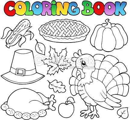 Libro Para Colorear Imagen 1 Del Día De Acción De Gracias Arte ...