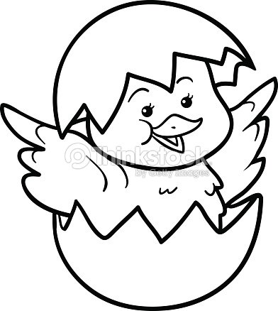 coloring book chick and egg