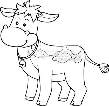 Livre de coloriage clipart vectoriel thinkstock - Coloriage petit veau ...