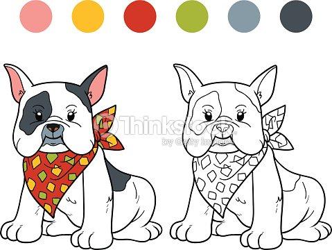 Libro Para Colorear Bulldog Francés Arte vectorial | Thinkstock