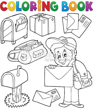 Libro Para Colorear Con Temática De Cartero Arte vectorial | Thinkstock