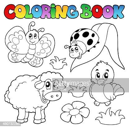Libro Da Colorare Con Animali Di Primavera Arte Vettoriale Thinkstock