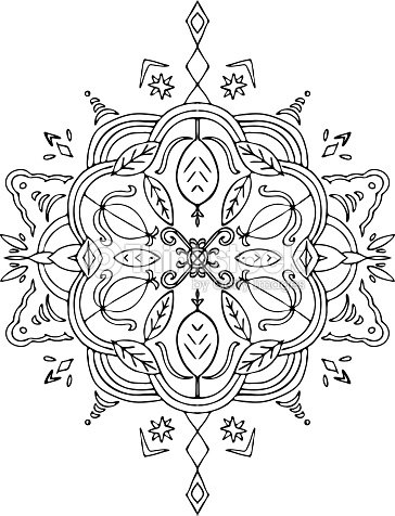 Färben Blätter Mandala Vektorgrafik | Thinkstock
