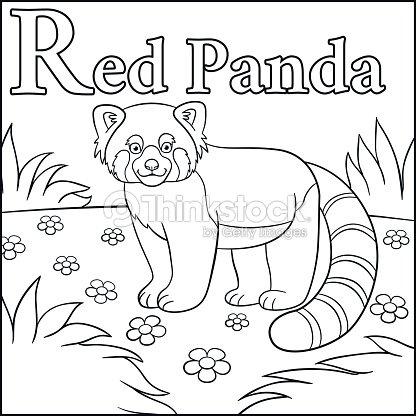 Página Para Colorear Alfabeto De Animales De Dibujos Animados R Es ...