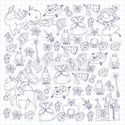 Coloriage Princesse Avec Licorne.Coloriage Livre Mignonne Petite Princesse Avec Licorne Et Dragon
