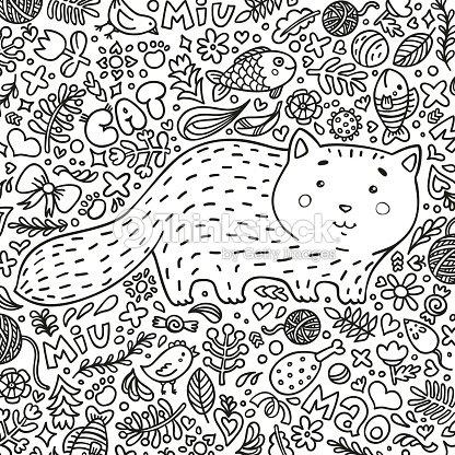 Página Para Colorear Ilustración De Dibujado A Mano Perfecto ...