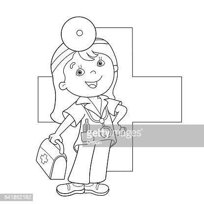 P 225 Gina Para Colorear Con Contorno De Dibujos Animados